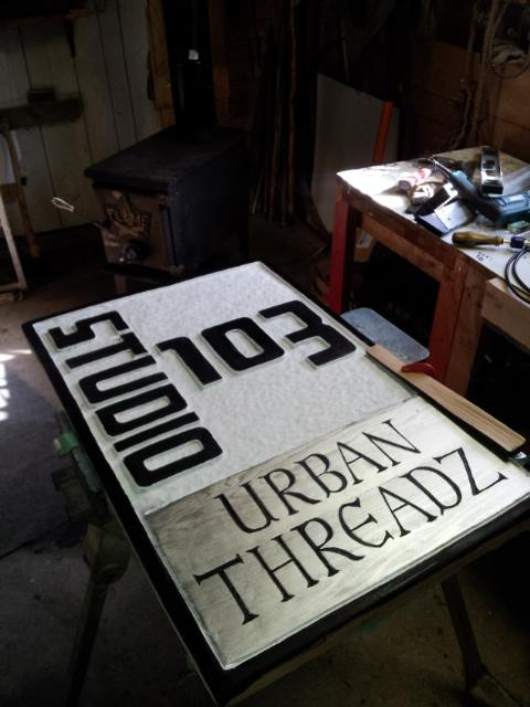 Custom sign for Studio 103 in Fredericton